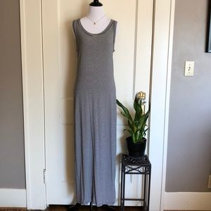 GAP Sleeveless maxi dress navy and white stripe